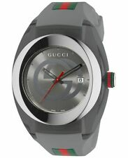New Gucci Sync XXL YA137109 Gray Rubber Band Gray Dial Unisex Watch