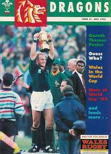 DRAGONS Nº 31 juil 1995 Welsh Rugby Magazine-Gareth 0 Thomas Poster RWC Pienaar