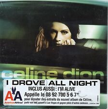 CD Single Céline DION I drove all night 2-Track CARD SLEEVE with Sticker NEW