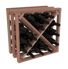 Wine Rack Stacking X Cube in Premium Redwood. Holds 24 Bottles. Ships for Free!