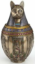 RARE Egyptian Bastet  Canopic Jar Cat Burial Urn - WE SHIP WORLDWIDE