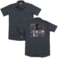 PINK FLOYD COVER Licensed Adult Men's Dickies Graphic Band Work Shirt SM-3XL