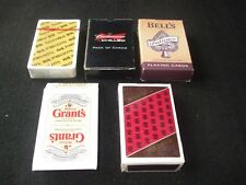 Job Lot 5 x Sealed Decks of Alcohol Themed Promotional Playing Cards