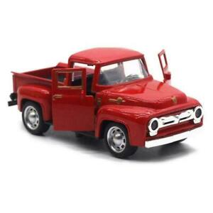 Classic Red Pickup Truck Vintage Metal Rustic Christmas Gifts Decor Farm T2Q0