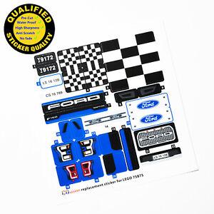 CUSTOM sticker for LEGO 75875 Ford F-150 Raptor & Ford Model A Hot Rod, top.