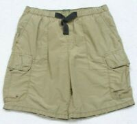Timberland Swimming Cargo Shorts Size Large 32 Trunks Man's Polyester Gray Lined