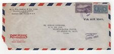 1945 PANAMA Air Mail Cover to LOS ANGELES USA Rawlplugs GABRIEL & CO