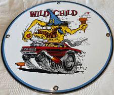 """New ListingVintage Rat Fink """"Wild Child"""" Porcelain Sign, Ed """"Big Daddy"""" Roth, Gas Motor Oil"""