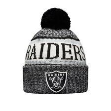 New Era Oakland Raiders Sideline Bobble Sombrero. nuevo NFL Forrado 8W de Hombre y Mujer Gorro