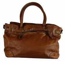 BZNA Mila cognac vintage Italy Designer Business Damen Handtasche Ledertasche