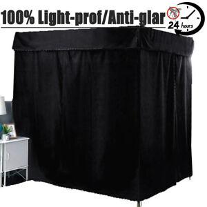 """100% Lightproof"" Windproof 4 Corner Post Bed Curtain Canopy Mosquito Net Canopy"