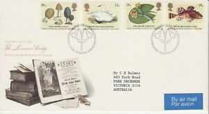 GB Stamps First Day Cover Bicentenary of Linnean Society, botany SHS Flower 1988