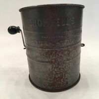 Vintage Bromwell's Measuring Sifter Metal Kitchen Flour USA