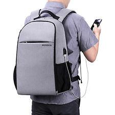 Arungor Mens School Backpack Laptop Rucksack Bag Travel Notebook Business Grey