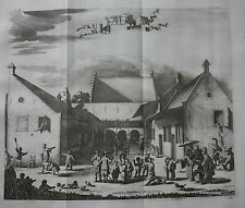 Antique print BATAVIA, JAKARTA, INDONESIA, CHILDREN'S HOSPITAL , Churchill, 1744