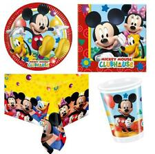 MICKEY MOUSE PARTY PACK 8 GUESTS 1 TABLE COVER 8 CUPS 8 PLATES 20 NAPKINS