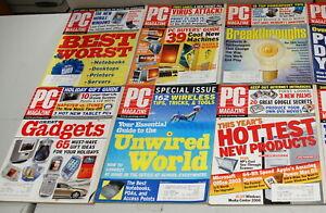 Rare PC Magazine 10 Issues 2003  Ships Worldwide