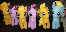 3 Applejack, 2 Twilight Sparkle, & 1 Rainbow Dash My Little Pony Plushies (NEW)