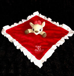 """Rudolph the Red Nose Reindeer's CLARICE Lovey """"Baby's 1st Christmas"""" EUC"""