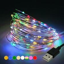 1PC 5V  USB Multi-color RGB Flash 10M 100LEDs Copper Wire Fairy String Lights