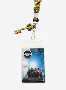 Ready Player One Yellow Grid Lanyard Strap with Gold Key Rubber Dangle