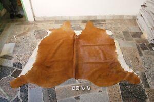 BROWN EXOTIC - Rug HAIR ON SKIN  Leather Cowhide Rug  4651-   71'' x  68''