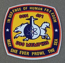 US Navy USS Memphis SSN - 691 Decal - Sticker Set Of 2