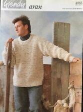 """Wendy Aran Knitting Pattern Men's jumper sweater  Size 36/46"""""""