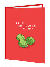 BrainBox CANDY Navidad Tarjetas Regalo Divertido Humor Broma Coles de Bruselas