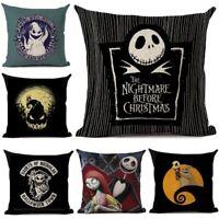 Nightmare Before Christmas Cartoon Skull Jack Printed Cushion Cover Halloween