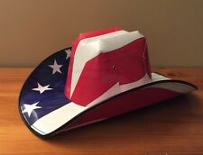 American Flag  COWBOY HAT (cardboard) By Green Source One-Size-Fits-All