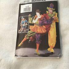 Butterick pattern # 3598 Pierrot jester/ clown jumpsuit & skirt -sizes Xs,S, M-u
