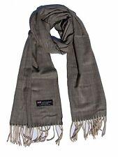 New 100% Cashmere Scarf Oliver/Beige Twill Plaid Wool Scarf Soft Unisex  Z1