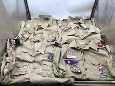 Boy Scouts of America Uniform Lot of 8 Polyester Uniform Shirts Mix of Sizes