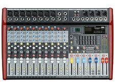 MUSYSIC Professional 12 Channel 8000W Powered Mixer 24-bit FX MU-P212fx DJ PA