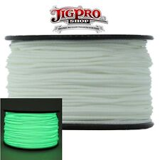 Glow-in-the-Dark 1.18mm x 125ft. Micro Cord Paracord by Jig Pro Shop - USA Made