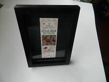 1987 BC LIONS Full ticket vs EDMONTON ESKIMOS #9 Damon Allen photo CFL *Framed*