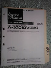 Pioneer A-X1010V service manual original book stereo amp amplifier 25 pages