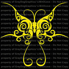 Fancy Butterfly Vinyl Decal Auto Tattoo Filigree Sticker Curly Car Vehicle
