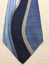 HENRI PICARD MENS TIE SHADES OF BLUE WITH WHITE 4 X 59