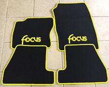 Autoteppich Fußmatten Ford Focus 3 MK3 schwarz-gelb ab 2011' 4tlg.  Neuware