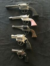 Die Cast Toy Pistol Lot - 5 Pieces