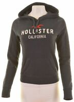 HOLLISTER Womens Hoodie Jumper Size 10 Small Black Cotton  JZ13