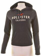 HOLLISTER Womens Hoodie Jumper Size 10 Small Black Cotton  JZ13