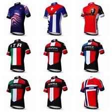 Land Männer New Radtrikot Fahrradbekleidung Sportswear Kurzarm Bike Shirt Tops