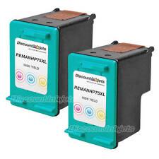 2Pk CB338WN COLOR Ink Print Cartridge for HP 75XL Photosmart C4280 C4480 C5280