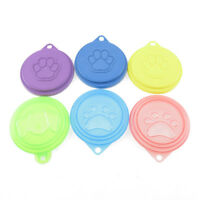 2/4pcs Pet Food Can Cover Lids Dog Cat Pets Tin Plastic Reusable Covers Caps Top