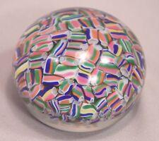Beautiful Baccarat Crystal Paper Weight Macedoine Motif Multi-Colored Millefiori
