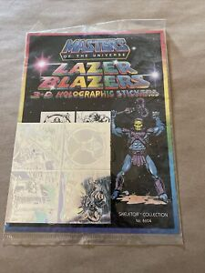 Masters of the Universe Lazer Blazer 3D Holographic Stickers Skeletor New