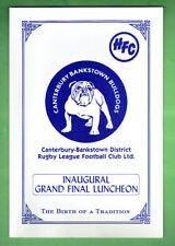 #UU1.   SIGNED CANTERBURY BULLDOGS GRAND FINAL LUNCHEON, C. 1980